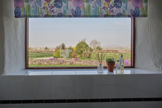 Middlewick Holiday Cottages: The view from the bathroom in meadow Barn