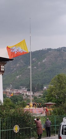 Western Bhutan Tour: Flag ceremony