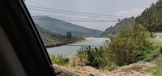 Western Bhutan Tour: River by roadside