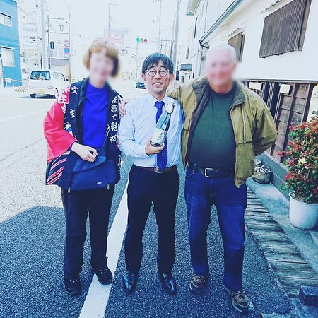 Kami, Japan: Commemorative photo with me and the customer