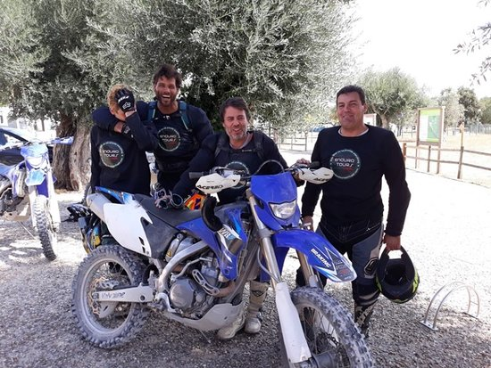 Santarem District, Portugal: Father and son came from South Africa  They love it and its very hot  on this day to do enduro off road here in Portugal