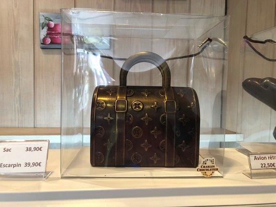 Charles Chocolatier : version chocolatée d'1 sac de luxe ne demandant qu'à faire le bonheur d'un palais fin