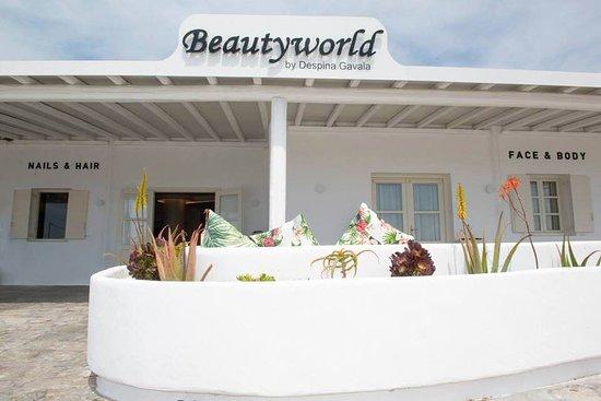 BEAUTYWORLD - SPA - MYKONOS - SOLARIUM - TANNING - BEAUTY SPA -NAIL SALON -HAIR SALON