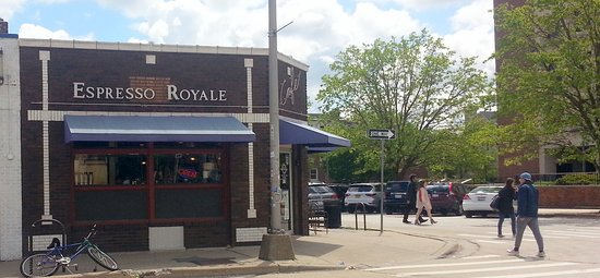 Espresso Royale Cafe: entrance view from S. 6th St.