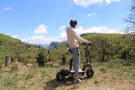 Rental of montain electric scooter