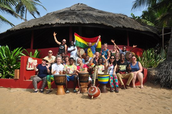 Dzita, Ghana: A group of happy drummers after a month long school held at Meet Me There