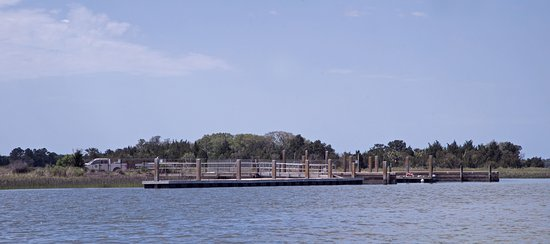 The dock at the island