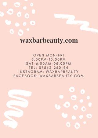 waxbarbeauty opening hours