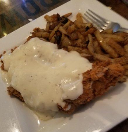 Littlefield, טקסס: Chicken Fried steak with pan fries
