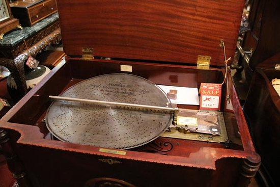Solvang, CA: Steel disk music player
