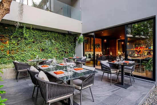 Outdoors seating area
