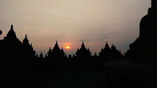 Borobudur Sunrise offers a different experience where participants were given a special pass to enter the monument early in the morning at 4.30 before the regular operating hour. Visitors will take a walk from the Manohara Hotel to Borobudur. Then visitors can enjoy the scenic view of Borobudur and the nearby five mountains when the sun rises.  Reservation and Booking at WhatSapp number = +62813 2884 3421  /   Email = borobudursunrise@yahoo.com
