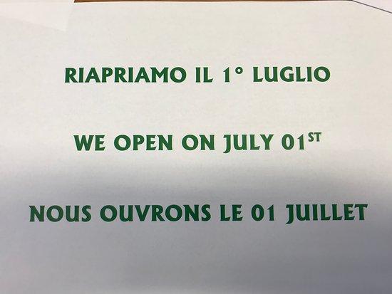 Saint-Rhemy-en-Bosses, Italia: Ora siamo chiusi. Riapriamo il 1° luglio