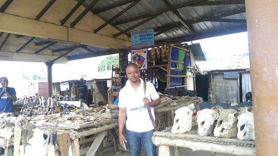 Marche fetish. Akodesewa fetish market Togo.