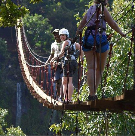 5 minutes away, Lavilleon Adventure Park: Nepalese bridge