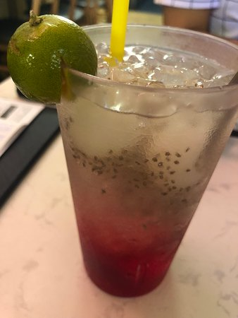 Rose water chia seed lime longan - refreshing