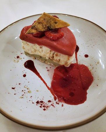 Raspberry & pistachio iced nougat