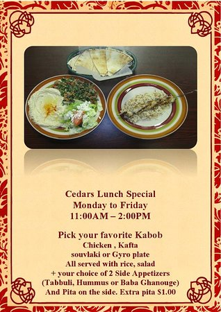 Cedars, Pensylwania: Lunch Special