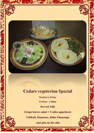 Cedars, PA: Lunch Special