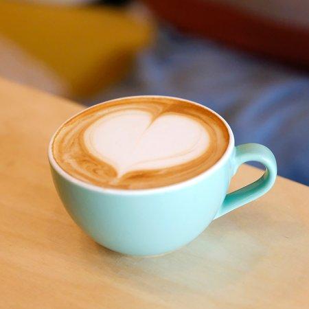 Café latte au lait bio