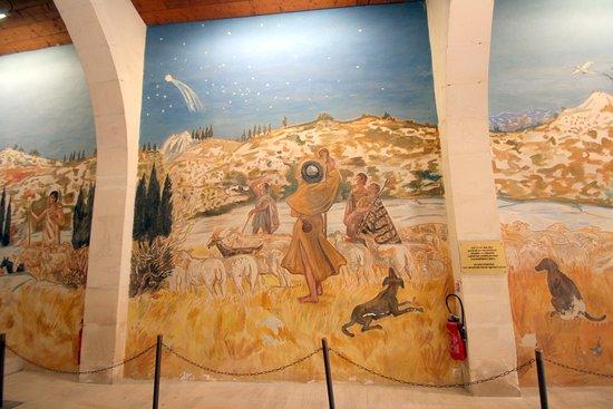 Фреска правой стены