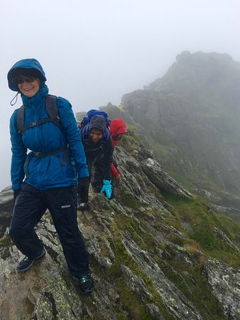 Clients on Helvellyn Striding Edge-Lake District-Guided ascents by @rocknridge