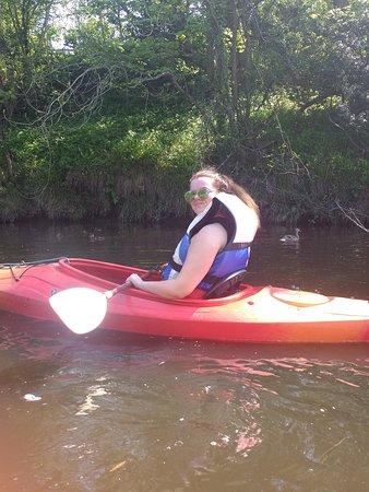 Ruswarp, UK: My granddaughter canoeing