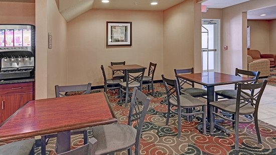Breakfast seating is available in our lobby