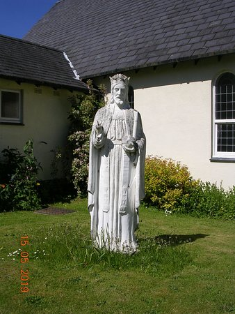 Statue outside the Catholic Church of The Good Shepherd (Llanrwst)