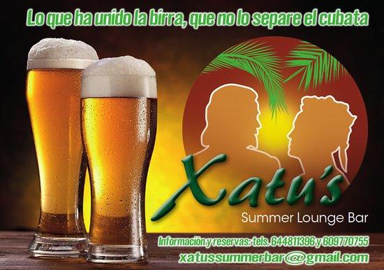 Logo del recinto Xatus Summer Bar.  parcela para eventos y celebraciones.    https://www.milanuncios.com/casas-rurales-en-puigpelat-tarragona/parcela-equipada-para-eventos-303688711.htm
