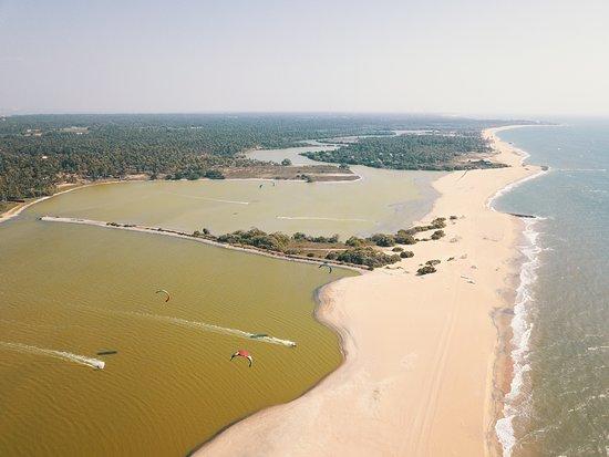 Kalpitiya, Sri Lanka: Kappalady Kitesurf Lagoon at Kite Center Sri Lanka