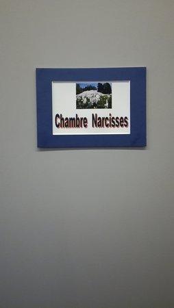 Saint-Etienne-Lardeyrol, ฝรั่งเศส: chambre narcisses 1