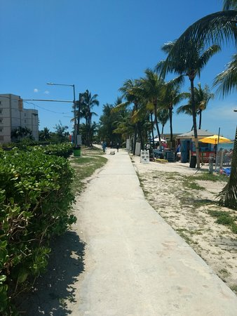 The boardwalk next to the beach