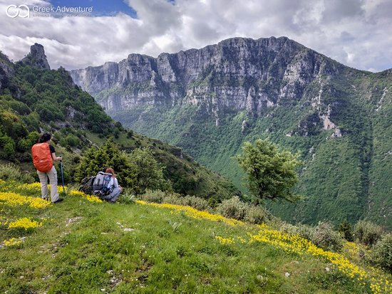 """Epirus, Greece: Exploring the deepest canyon of the world!  Vikos gorge at Zagorochoria is an amazing destination for nature-loving travelers!  Our guide Dimitris was recently there, exploring the gorgeous scenery of this amazing canyon: old stone bridges, stunning landsapes, traditional villages... Everything that Zagori area is famous for! He even """"met"""" with a bear on the way back! Check out the photo gallery of this excursion to get an idea!"""