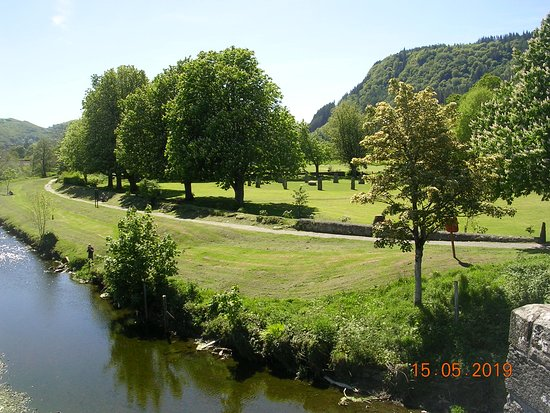 Llanrwst Eisteddfod Stone Circle on the banks of the River Conwy