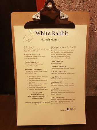 WHITE RABBIT, Galway - Restaurant Reviews - TripAdvisor