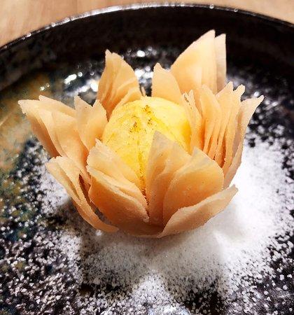 Dessert fleur lotus