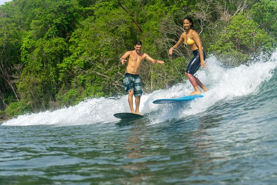 Dominican Longboard surfers living in Costa Rica