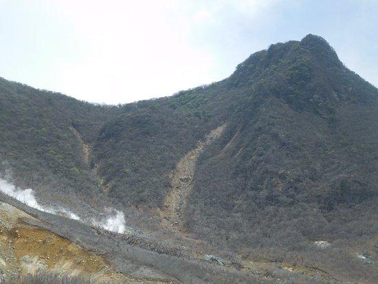 Owaku-dani Valley: 全景です。