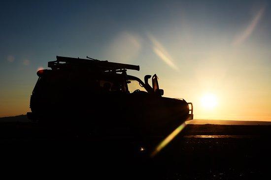 Khovd, Mongolië: Sunset