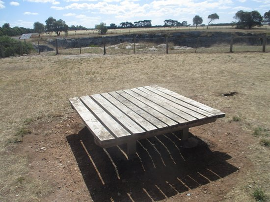 Pleasing Bench Picture Of Little Blue Lake Port Macdonnell Ibusinesslaw Wood Chair Design Ideas Ibusinesslaworg