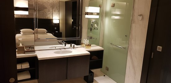 Privacy door on the toilet area