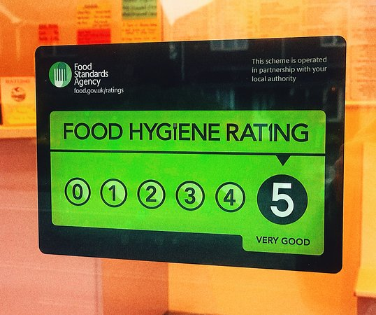 Absolutely spotless environment is what we're after all of the time and with no compromises! And we've been always qualifying for 5 star Food Hygiene Rating.
