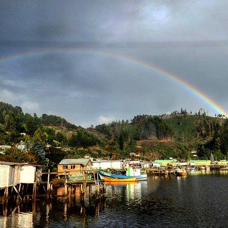 Queule, ชิลี: Aun en días nublados tiene su encanto este pueblo costero