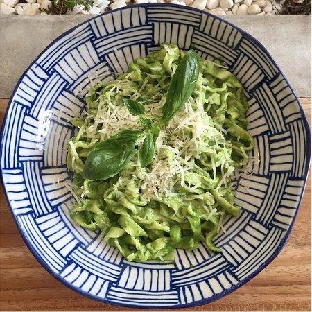 Homemade fresh tagliatelle pasta