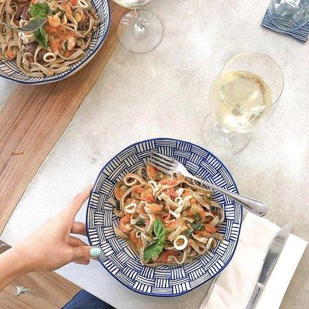 homemade, gluten-free, fresh tagliatelle pasta