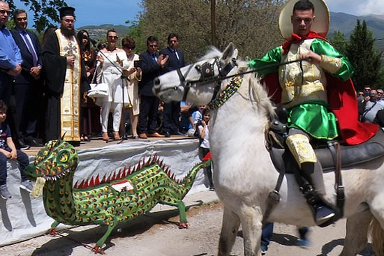 Unique custom that revives every year in Neo Souli, Serres! According to the tradition of the area, in the old days a dragon locked the water of the village and to release it he asked every year a village resident who had to be chosen by lot. Read more: https://seavillagreece.com/en/category/tourist-guide/