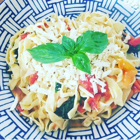 Bottega Italiana Berawa: homemade gluten-free fresh tagliatelle pasta