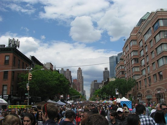 Hell's Kitchen: 9th Ave International Food Festival. Lots of people, food, drinks and fun.