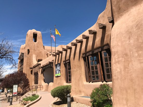 Santa Fe, NM: Entrance to the New Mexico Museum of Art